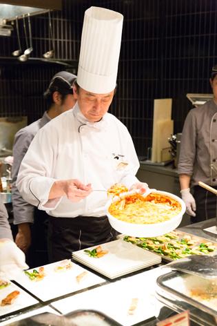 佃料理長のソルガムきび料理
