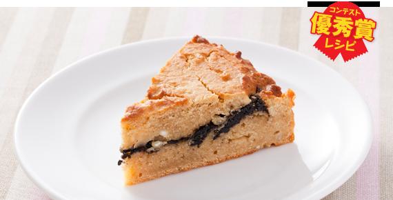 ソルガムの黒糖ごまケーキ