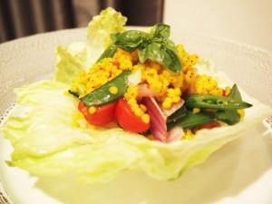 ソルガムきびとトマトのサラダ トマトドレッシング