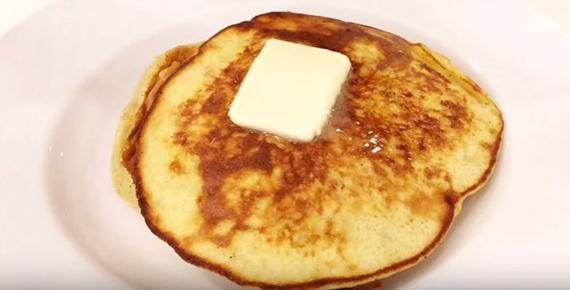 ソルガムきびとバナナのパンケーキ