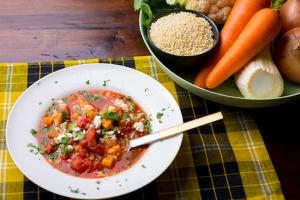ソルガムきびの地中海風スープ