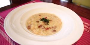 ソルガムきびといんげん豆の豆乳リゾット