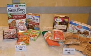 日米のソルガムきびを使用したグルテンフリー食品と非グルテンフリー食品。 日本でもホワイトソルガムきび加工食品が流通している。