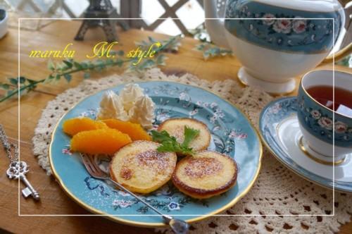 ソルガムきび チーズケーキ風ヨーグルトパンケーキ