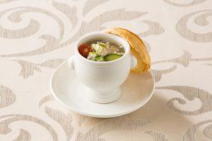 コラーゲンたっぷり 夏野菜とソルガムきびの和風スープ