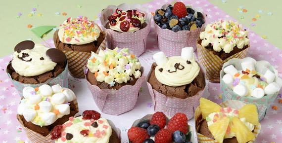ソルガムきびのチョコレートカップケーキ