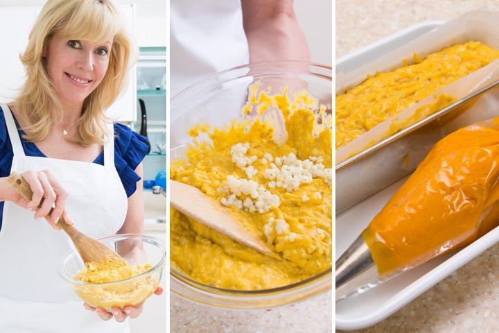 かぼちゃとチアシードのソルガムきびのパウンドケーキ