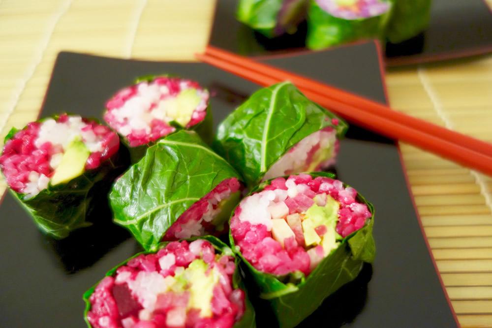 ソルガムきびブレンドのカラフル巻寿司(SUSHI BEYOND WITH SORGHUM RICE)