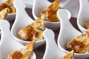【前菜】ソルガムきびの韮せんべい奏龍味噌添え