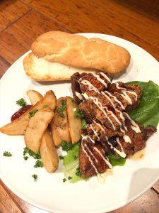 テリヤキチキンサンドイッチ(六本木のグルテンフリーレストランで提供)