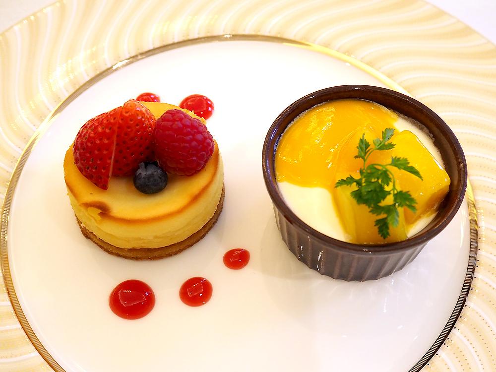 ソルガムきびのチーズケーキとソルガムきびプディング